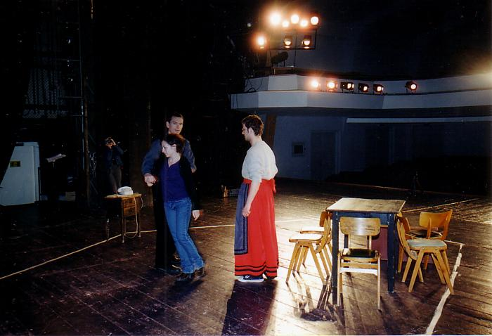 Orphan Muses rehearsals in Romania, 2003